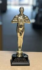 """9"""" Tall Personalized Achievement Oscar Trophy - Award Figure - Engraved FREE"""