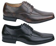 Mens New Black Brown Lace Up Leather Lined Formal Shoes Dress Free UK Postage