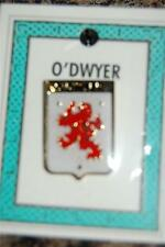 O'DWYER to FLETCHER Family PIN LAPEL Coat of Arms -  Heraldic Crest