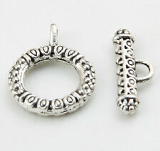 Free ship 3/12/100 Sets Tibetan Silver Toggle Clasps Connectors Jewelry Making