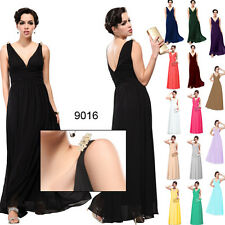 BNWT GRECIAN Chiffon Empire Line Maxi Prom Long Evening Bridesmaid Dress 6-18