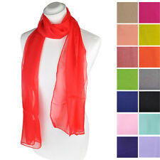 [UK SELLER] Women/Ladies Plain Chiffon Scarves with Various Colours