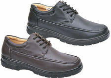 Mens New Black / Brown Light Weight Lace Up Casual Comfort Shoes Free Uk Postage