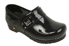 KOI BY SANITA LINDSEY BLACK PATENT LEATHER CLOG CLOGS SUPPORT SHOES ALL SIZES FS
