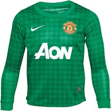 Authentic Junior Manchester United Home Goalkeeper Shirt 2012-13,  13 -15 Years