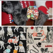 Sir Crazy Cookie's Male dog diaper / belly band / WIDE VELCR / BUY 2 GET 1 FREE