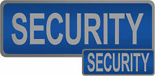 Security Reflective Badges With Velcro Backing, Blue and Black avaliable