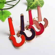 Vogue Candy Colors Enamel Punk Retro Exclamation Question Mark Earrings Ear Stud