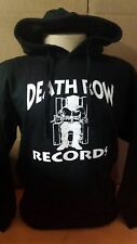 Death Row Records Black Pullover Hoodie  NWA 2PAC TUPAC SHAKUR LA  RAPPERS
