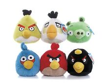 "NEW OFFICIAL 6"" PLUSH ANGRY BIRDS AND ANGRY PIG SOFT TOY ANGRY BIRDS COLLECTION"