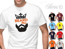 BEARD KING T-SHIRT DESIGNER MENS FUNNY TSHIRT BIRTHDAY CHRISTMAS MOVEMBER