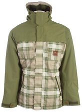 Foursquare Recoil Snowboard Jacket Backwoods Print/Green Beret Mens