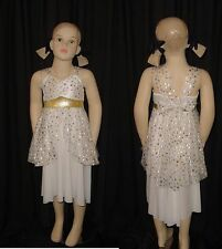 ANGELIC Christmas Victorian Star Goddess Angel Dress Dance Costume Child 2 & 6