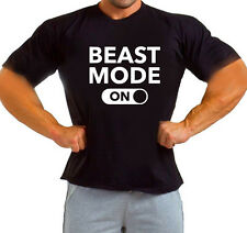 BEAST MODE ON  WEIGHTLIFTING Gym Motivation Bodybuilding Training Workout TSHIRT