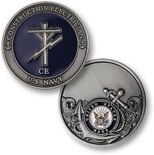 CE = Construction Electrician ~ Seabee ~ U.S. Navy ~  Challenge Coins ~