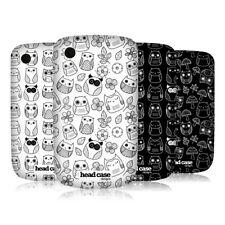 HEAD CASE DOODLE OWL SNAP-ON BACK CASE COVER FOR BLACKBERRY CURVE 8520 9300 3G