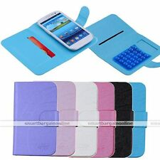 """Universal Synthetic Leather Card Holder Flip Case Cover for 3.5""""-5.5"""" Smartphone"""