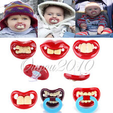 8 Styles Funny Infant Pacifiers Dummy Baby Teether Pacy Orthodontic Nipples Lips