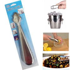 """7"""" Inch Ice Tongs Bar Sweets BBQ Salad Easy Hold Food Serving Metal Steel Tong"""