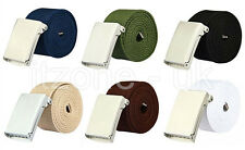 MENS PLAIN WEBBING CANVAS COTTON BELT WILL FIT 28-54 INCH UK STOCK