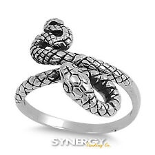 .925 Sterling Silver Fashing Snake Ring Available in Sizes 5 6 7 8 9 - Brand NEW
