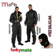 WATERPROOF SUIT JACKET TROUSER MOTORBIKE CYCLE SCOOTER RAIN OVER 1PC 2PC ONE TWO