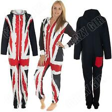 Unisex Onesie Ladies Womens Adult UK Union Jack Flag Print Jumpsuit S M L XL XXL