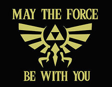 May the Triforce Be With You Legend of Zelda Nintendo NES Funny Gamer T-shirt