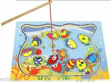 Juego Pescar de madera con imán, Pesca, Puzzle / Jigsaw with magnet Fishing Toy