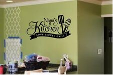 NANAS KITCHEN LOVE SERVED DAILYVINYL DECAL WALL LETTERS WORDS HOME KITCHEN