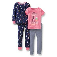 NEW Carter's 4 Piece Cotton Ice Cream Cone Girl PJs NWT 2T 3T 4T 5T