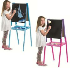 DISNEY WOODEN FLOOR STANDING ART EASEL COLOURING DRAWING CHALKBOARD CLIPBOARD