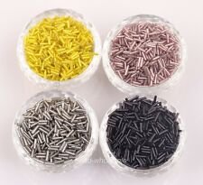 1000pcs Tube Czech Glass Spacer Beads For Jewelry Making  2x6mm  Wholesale