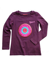 Desigual Girls Purple with Sequins Long Sleeve Cotton T Shirt Top