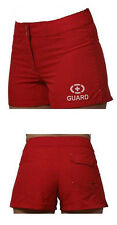 Womens Lifeguard Board Shorts (Circle) - Red