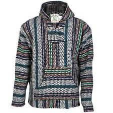 Baja Joe - Mens Rainbow Stripe Woven Baja Hoodie