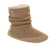 Womens Bedroom Athletics Thandie Slipper Boot NATURAL Boots DD2