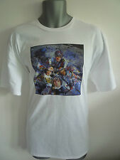 THE STONE ROSES NME PAINT INSPIRED LOGO T-SHIRT,BROWN,SQUIRE,MADCHESTER, INDIE
