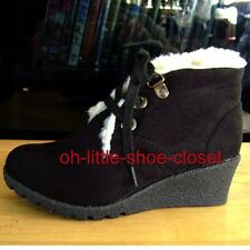 Black Suede Dressy Casual Walking Booties Baby & Toddler Size 9, 10, 11