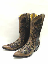 Corral Fancy Distressed Overlay Mens Cowboy Boots - Snip Toe G1119