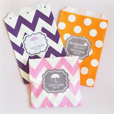 96 Babies Are Sweet Personalized Chevron Dots Wedding Party Favor Goodie Bags