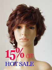 Fashion women lady full wig girls' wigs hairpiece,100% real natural human hair A
