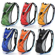 2L Zaino Sacca Idratazione Hydration Pack Rucksack Backpack Cycling Bladder Bag