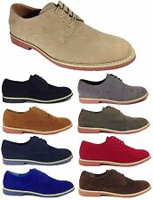 NIB Mens Dress Shoes Oxfords Classic Bucks Derby Suede Lace up Rubber Sole DAK01