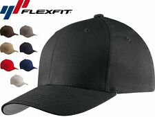 Flexfit V-Flexfit Cotton Twill Fitted Baseball Blank Plain Hat Cap Flex 5001