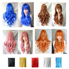 Sexy Womens New Fashion Long Wavy Curly Cosplay Party Girls Full Hair Wigs