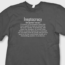 Ineptocracy Political Humor T-shirt funny Government Election Tee Shirt