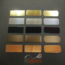 50 x ENGRAVED 100MM x 25MM ADHESIVE TROPHY PLAQUES AWARD PLATE BULK PACK LISTING