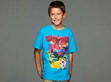 AUTHENTIC MINECRAFT SAMCUBE BATTLE YOUTH TEE STEVE CREEPER DRAGON SHIRT S-XL