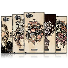 HEAD CASE INTROSPECTION PROTECTIVE HARD BACK CASE COVER FOR SONY XPERIA L C2105
